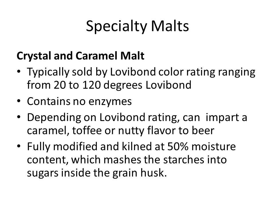 Specialty Malts Crystal and Caramel Malt