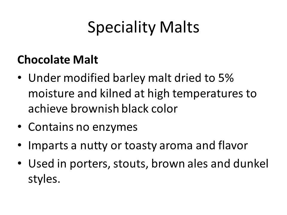 Speciality Malts Chocolate Malt