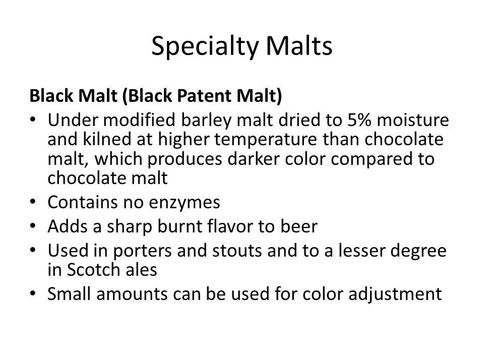 Specialty Malts Black Malt (Black Patent Malt)