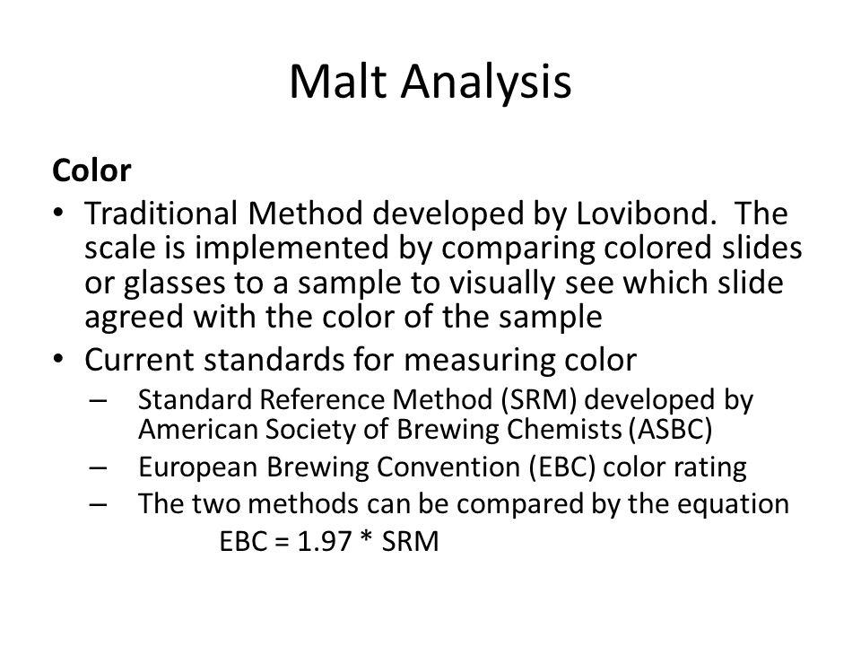 Malt Analysis Color.