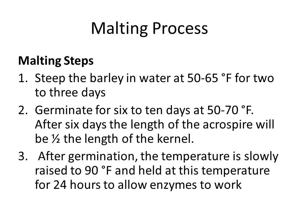 Malting Process Malting Steps