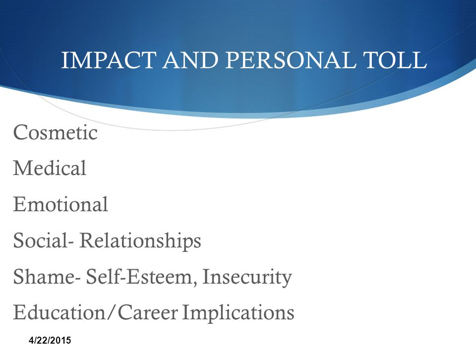 IMPACT AND PERSONAL TOLL