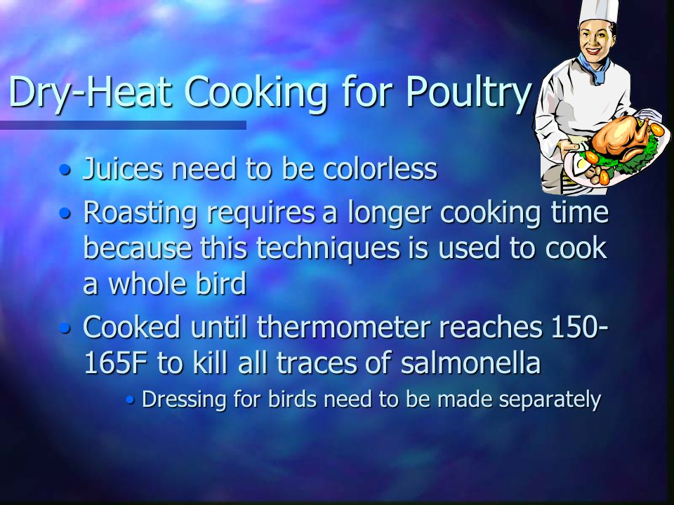 Dry-Heat Cooking for Poultry