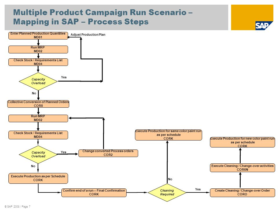 Multiple Product Campaign Run Scenario – Mapping in SAP – Process Steps