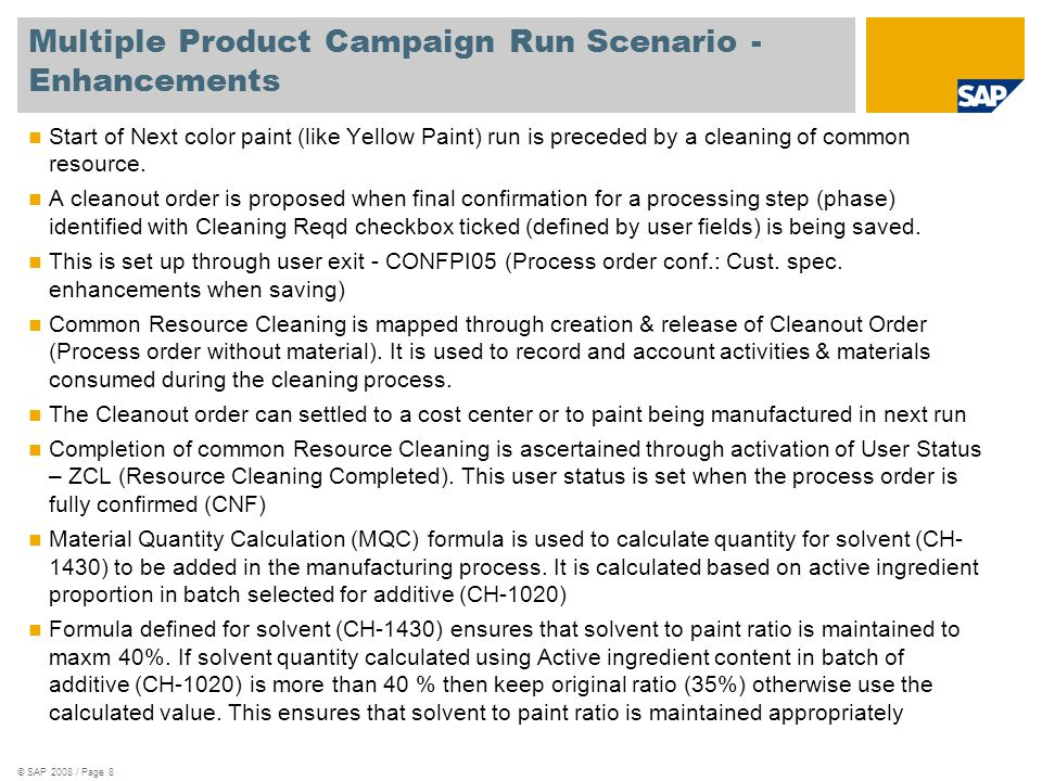 Multiple Product Campaign Run Scenario - Enhancements