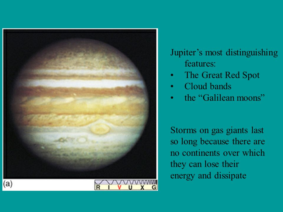 Jupiter's most distinguishing features: