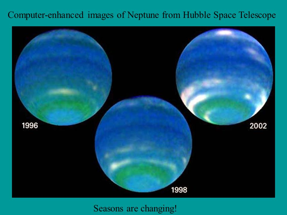 Computer-enhanced images of Neptune from Hubble Space Telescope
