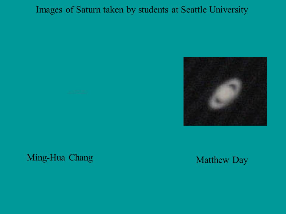 Images of Saturn taken by students at Seattle University