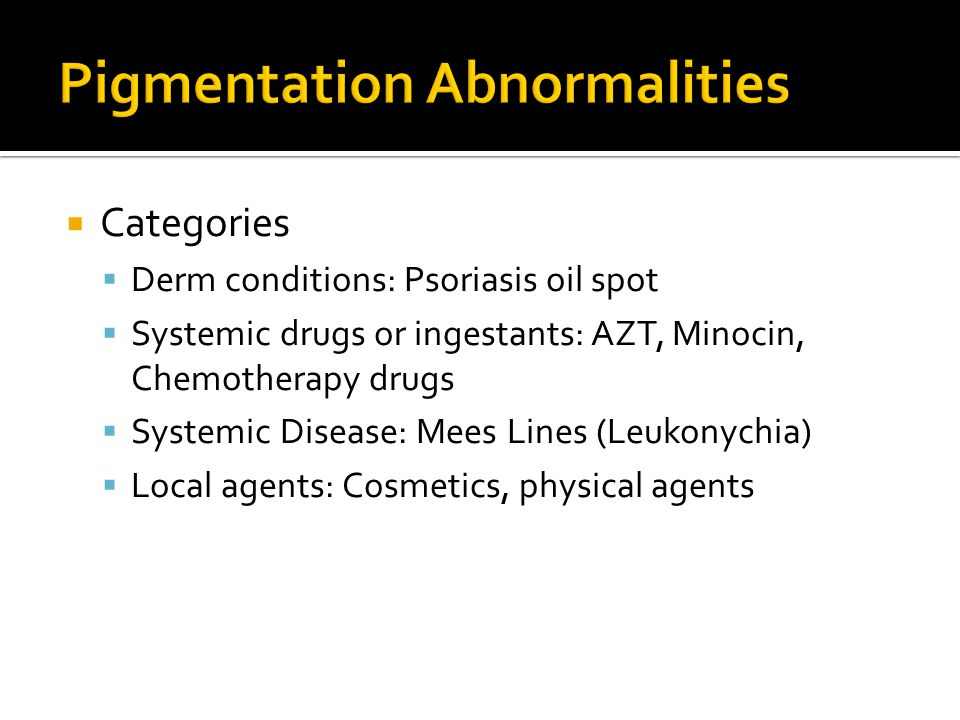 Pigmentation Abnormalities