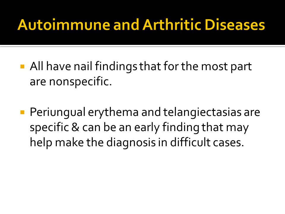 Autoimmune and Arthritic Diseases