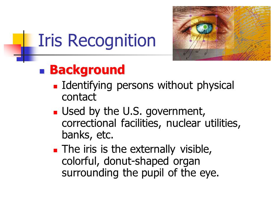 Iris Recognition Background