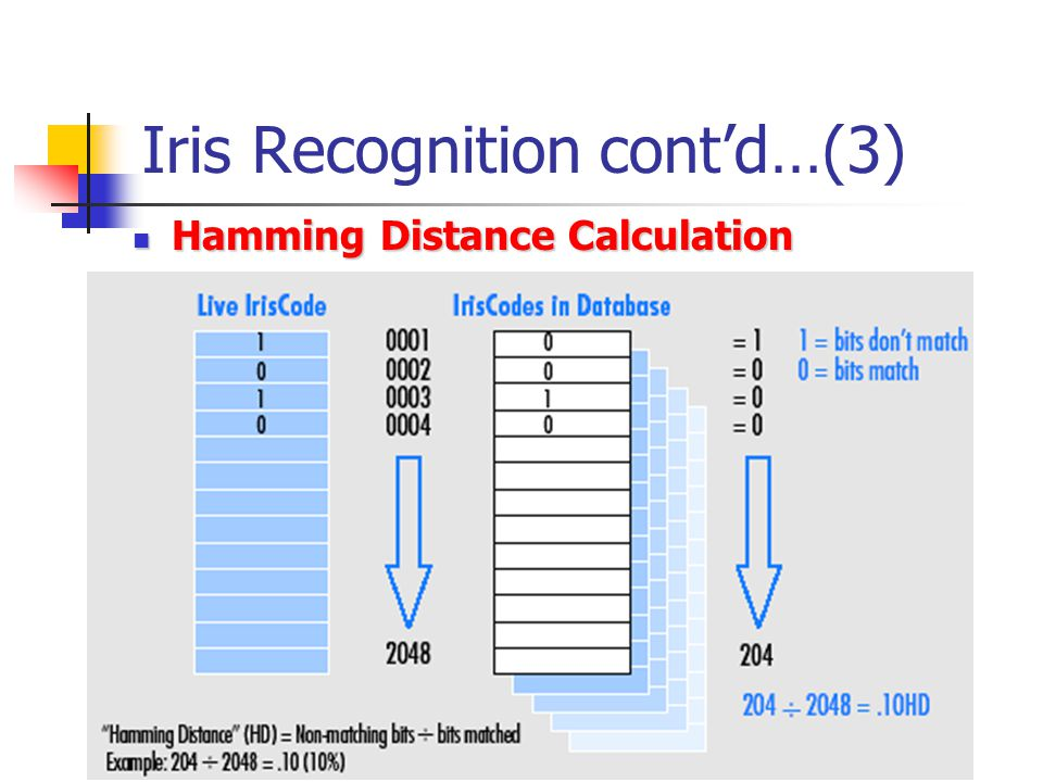 Iris Recognition cont'd…(3)