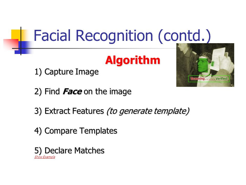 Facial Recognition (contd.)