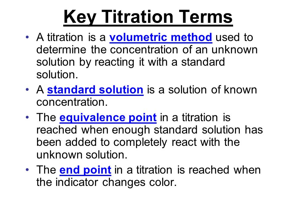 Key Titration Terms