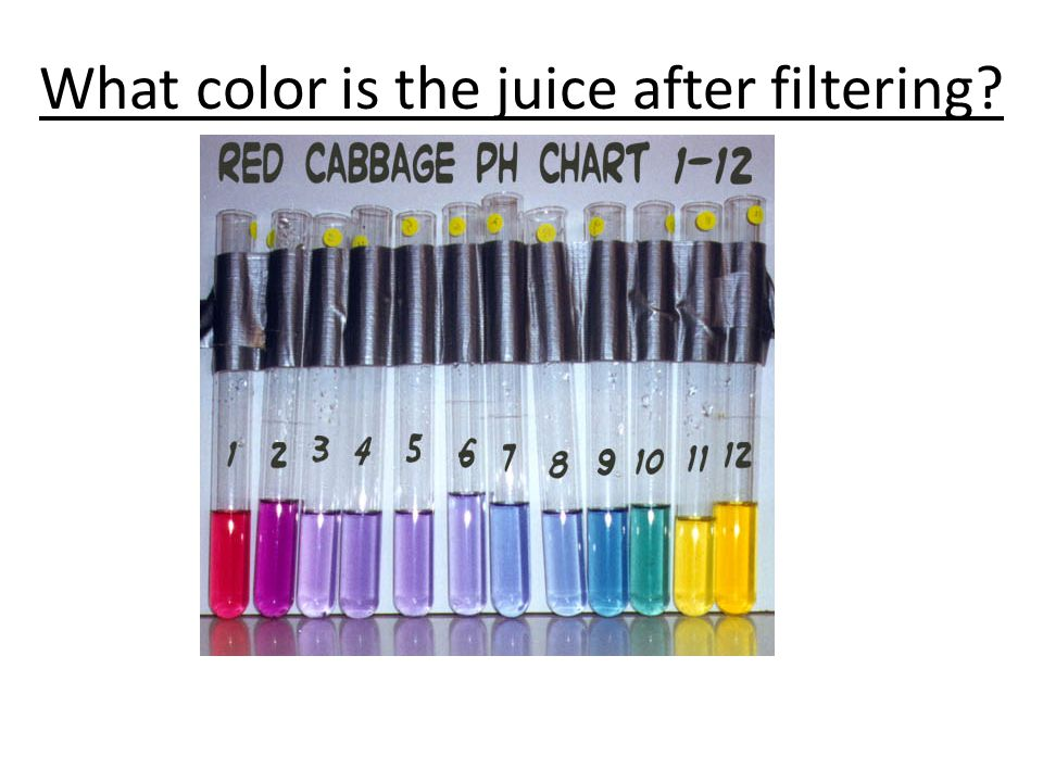 What color is the juice after filtering