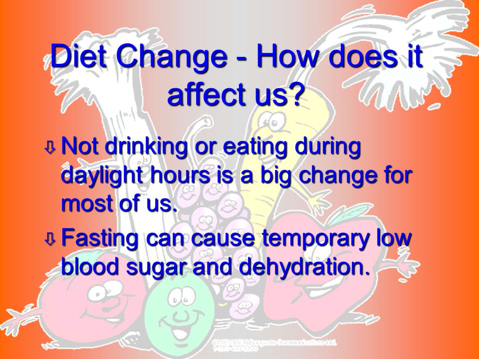 Diet Change - How does it affect us