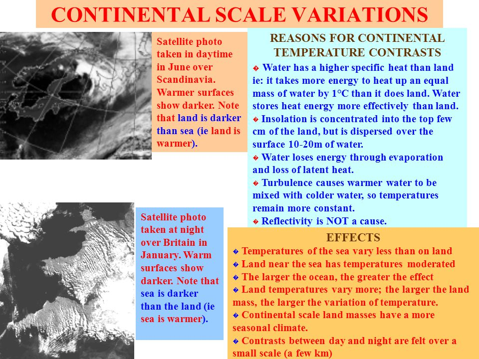 CONTINENTAL SCALE VARIATIONS