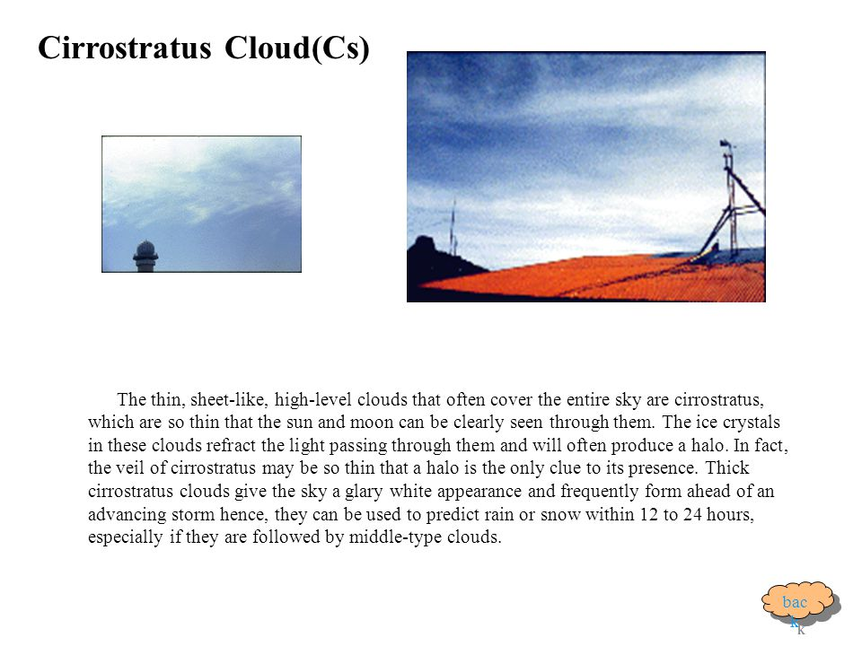 Cirrostratus Cloud(Cs)