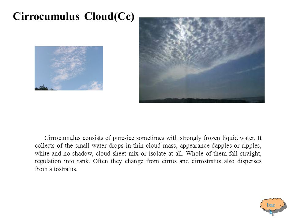 Cirrocumulus Cloud(Cc)