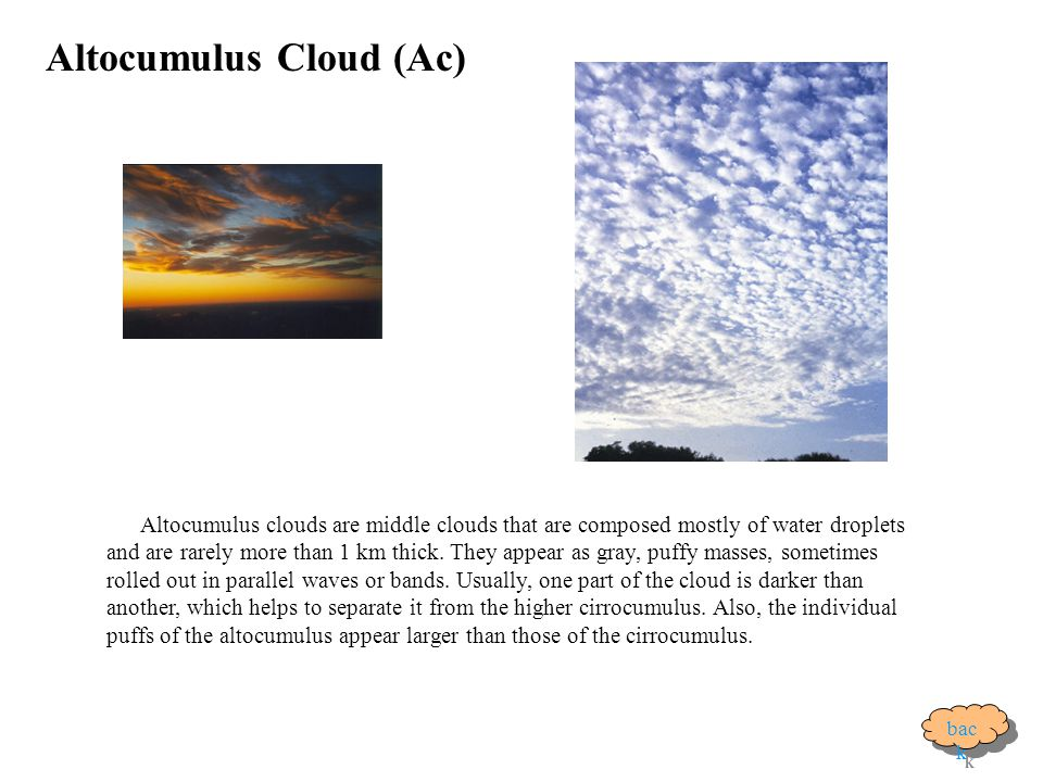 Altocumulus Cloud (Ac)