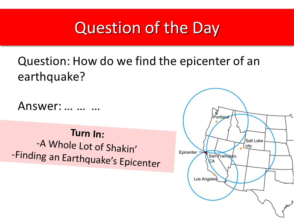 Finding an Earthquake's Epicenter