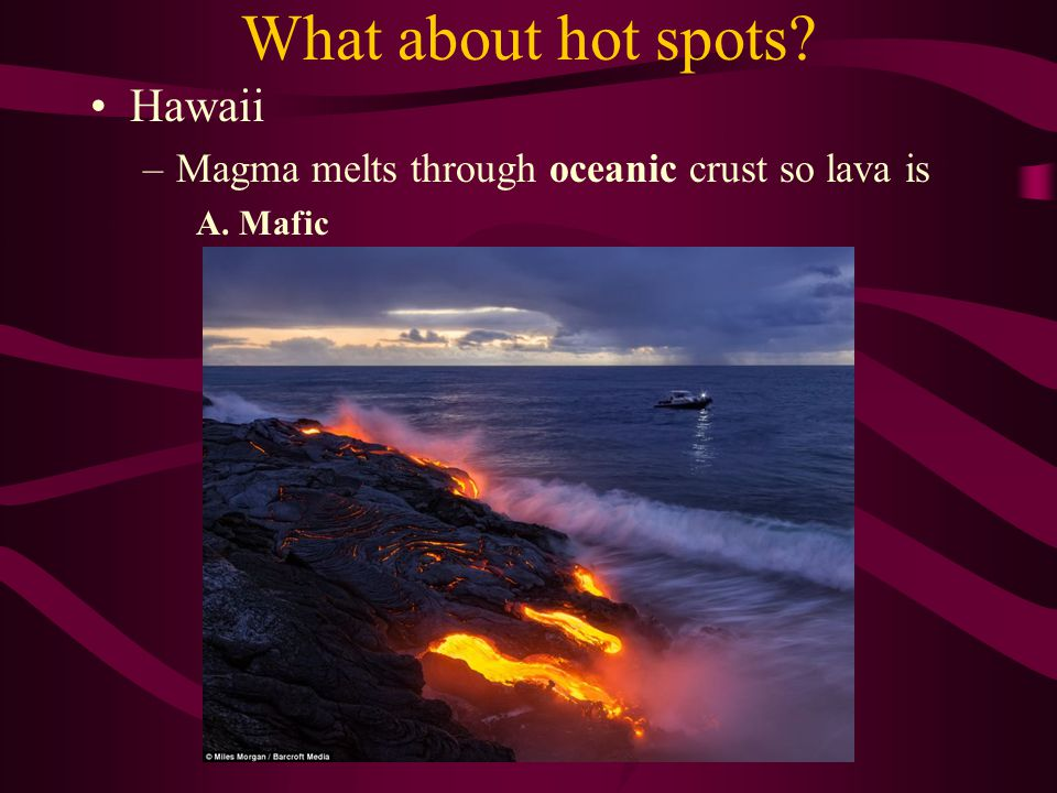 What about hot spots Hawaii