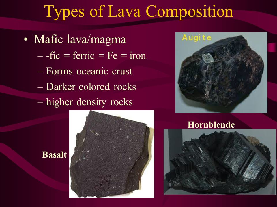 Types of Lava Composition