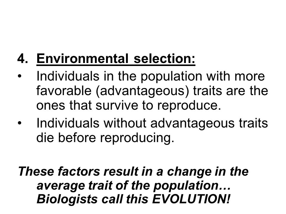 Environmental selection: