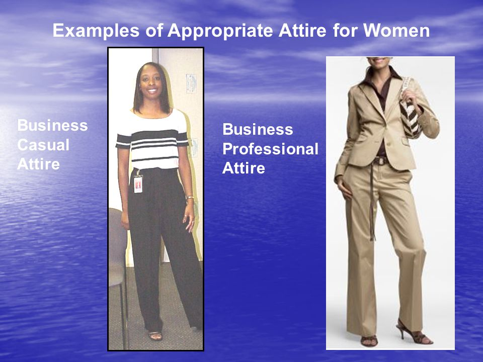 Examples of Appropriate Attire for Women