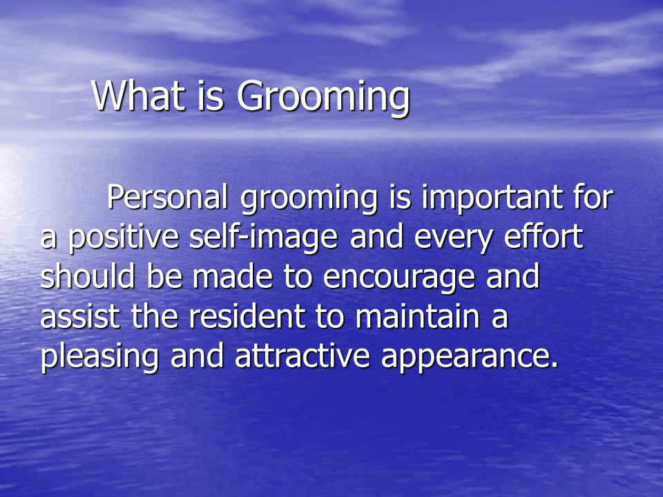 What is Grooming