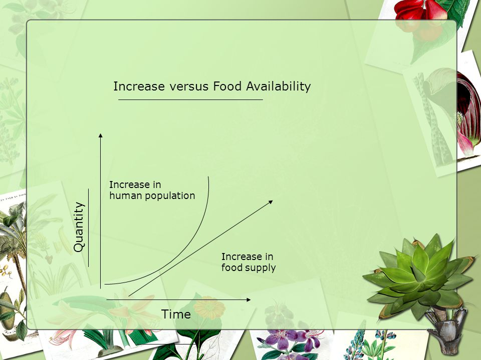 Increase versus Food Availability