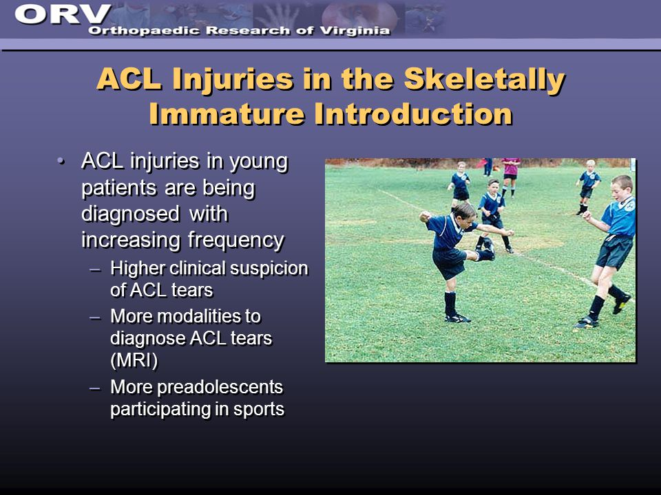 ACL Injuries in the Skeletally Immature Introduction