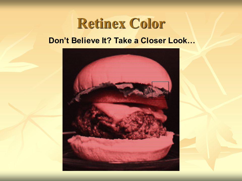 Don't Believe It Take a Closer Look…