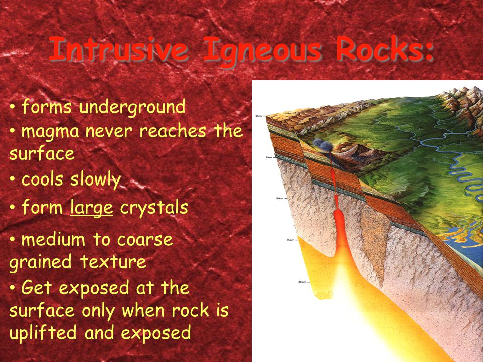 Intrusive Igneous Rocks: