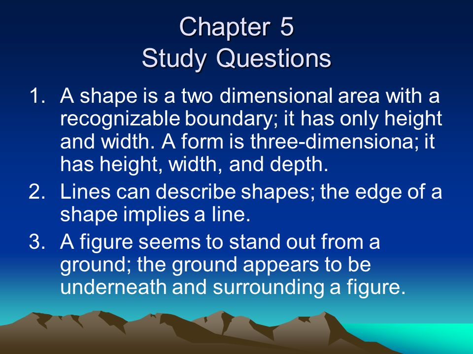 Chapter 5 Study Questions