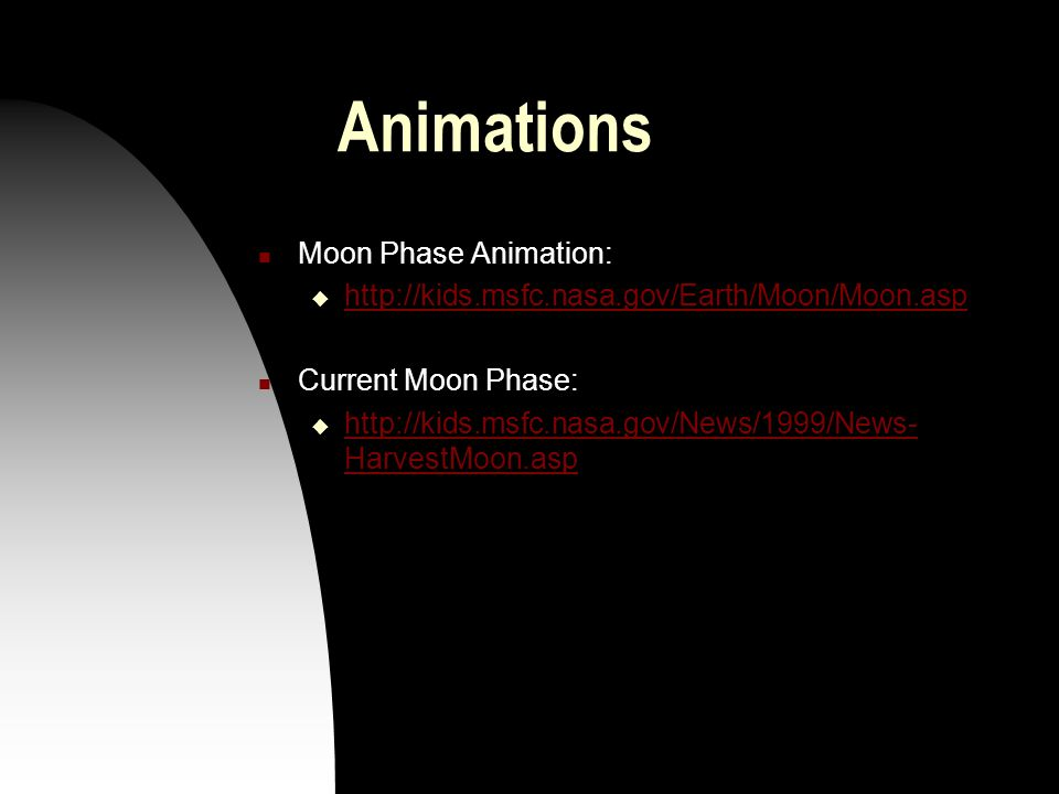 Animations Moon Phase Animation: