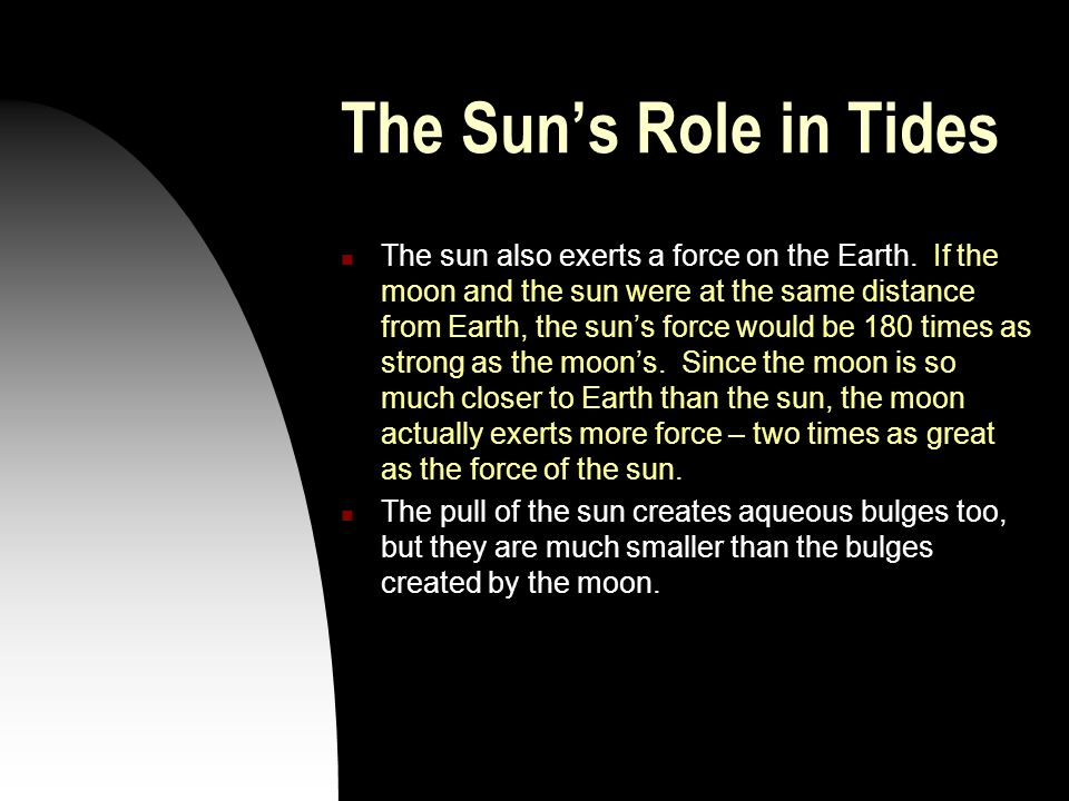 The Sun's Role in Tides