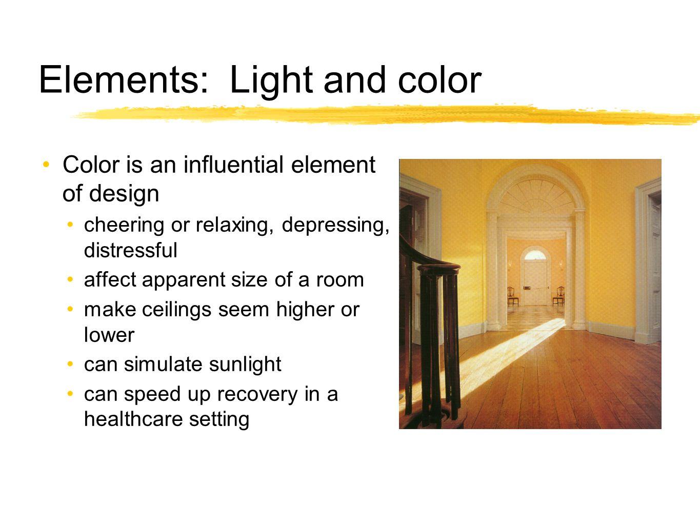 Elements: Light and color