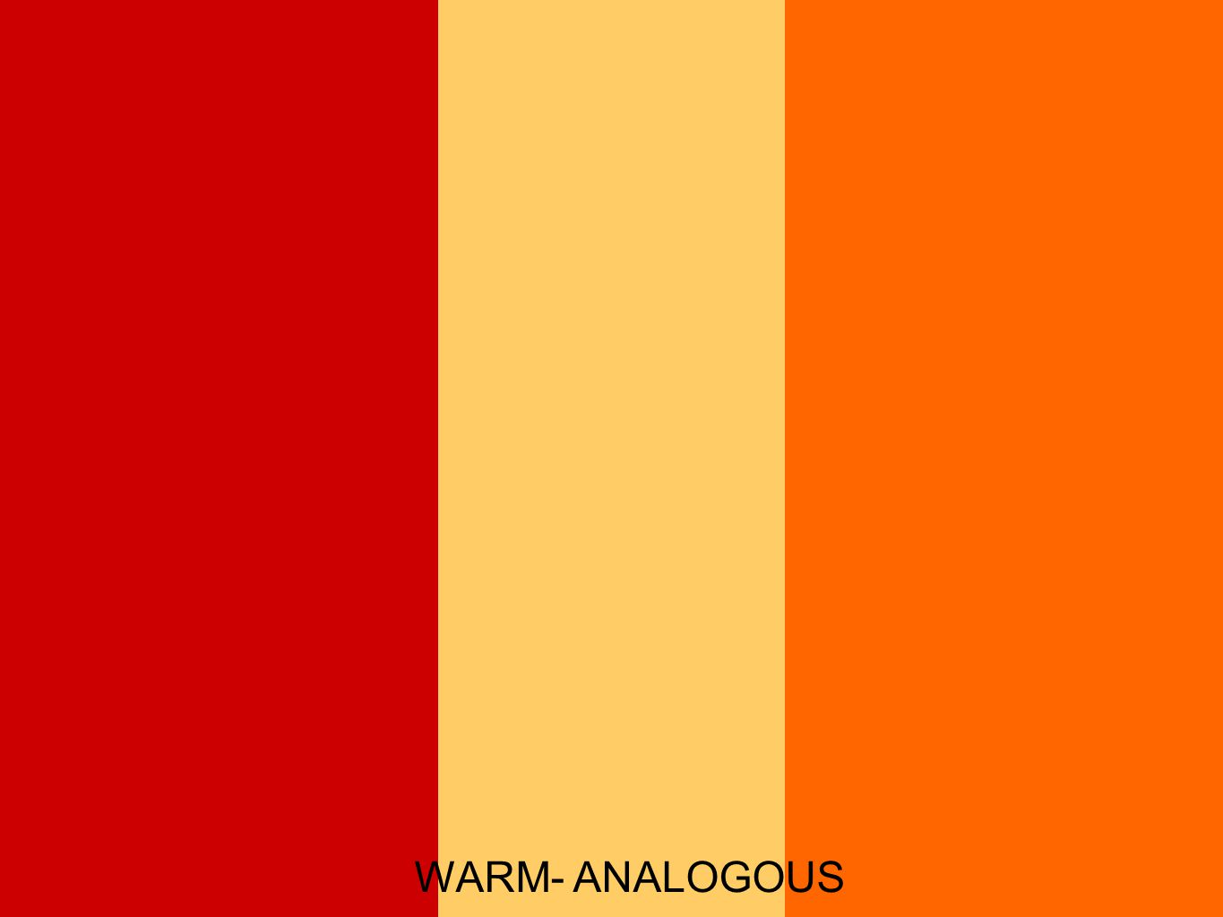 WARM- ANALOGOUS