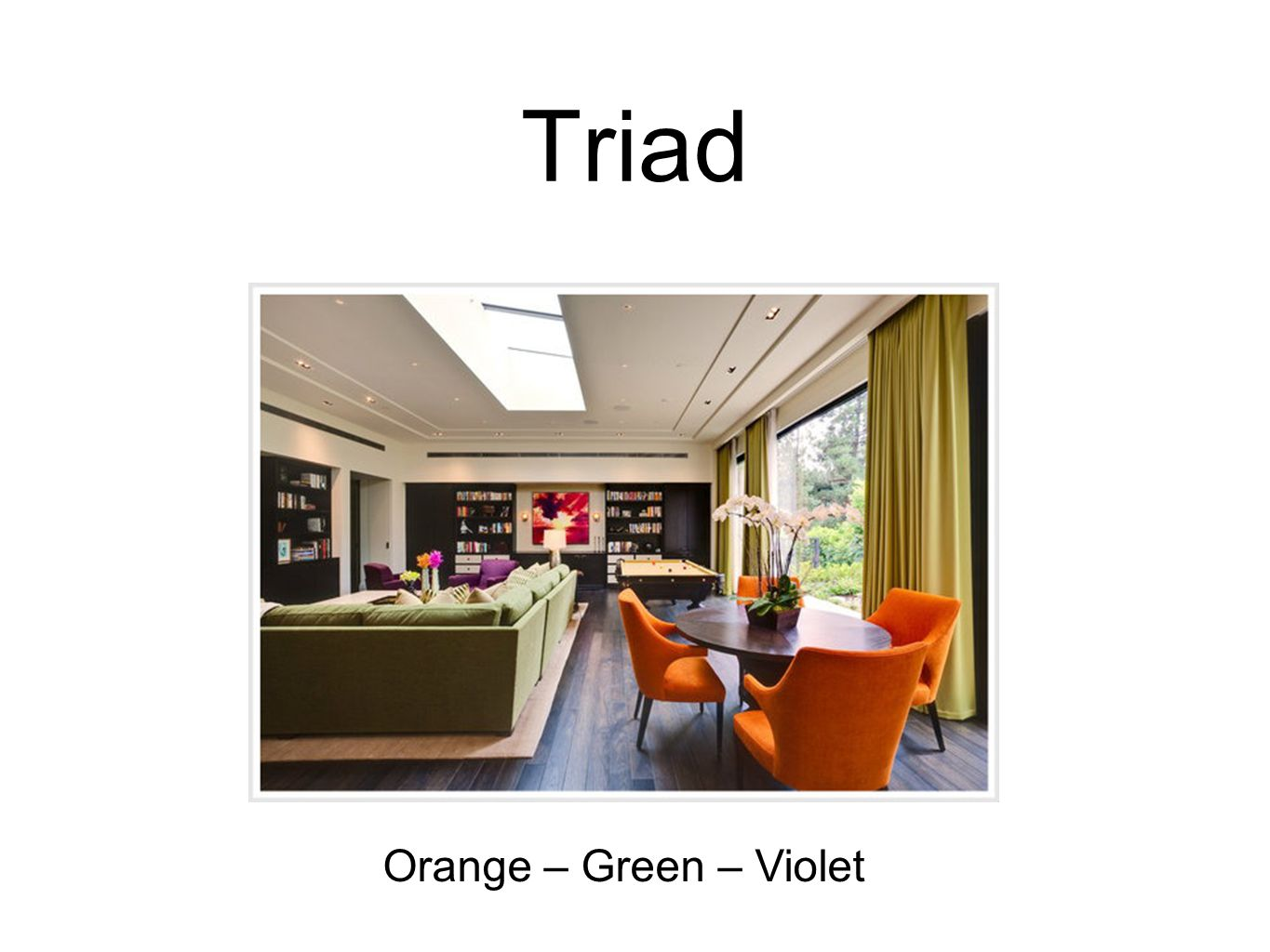 Triad Orange – Green – Violet