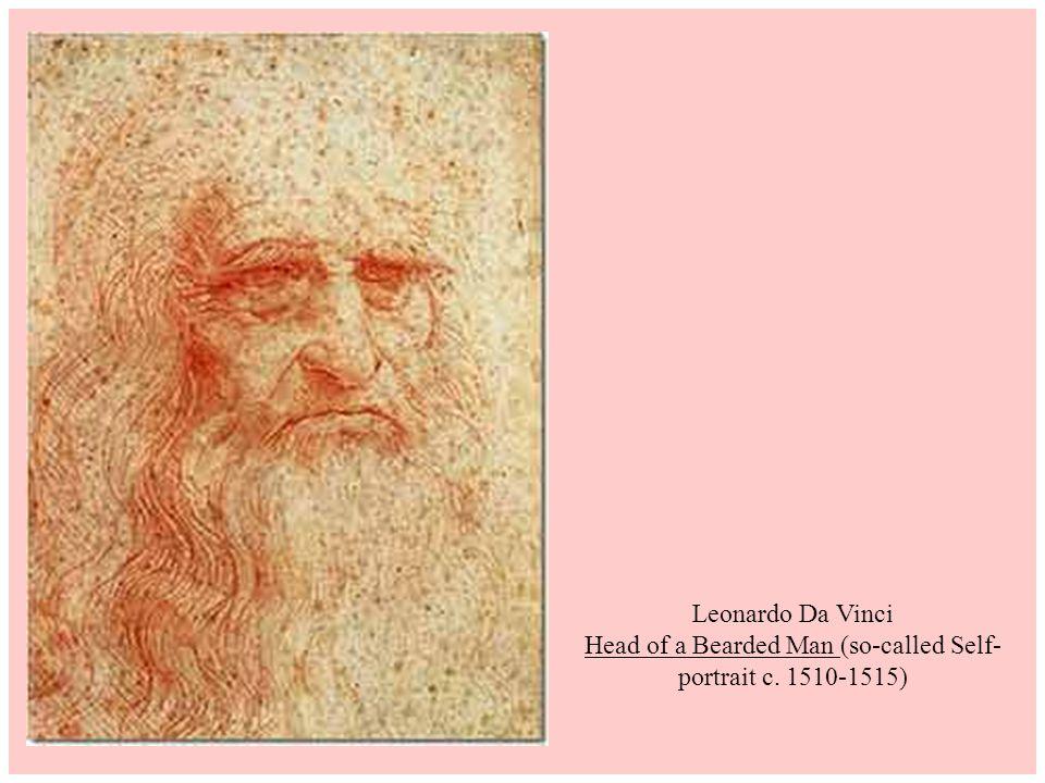 Leonardo Da Vinci Head of a Bearded Man (so-called Self-portrait c