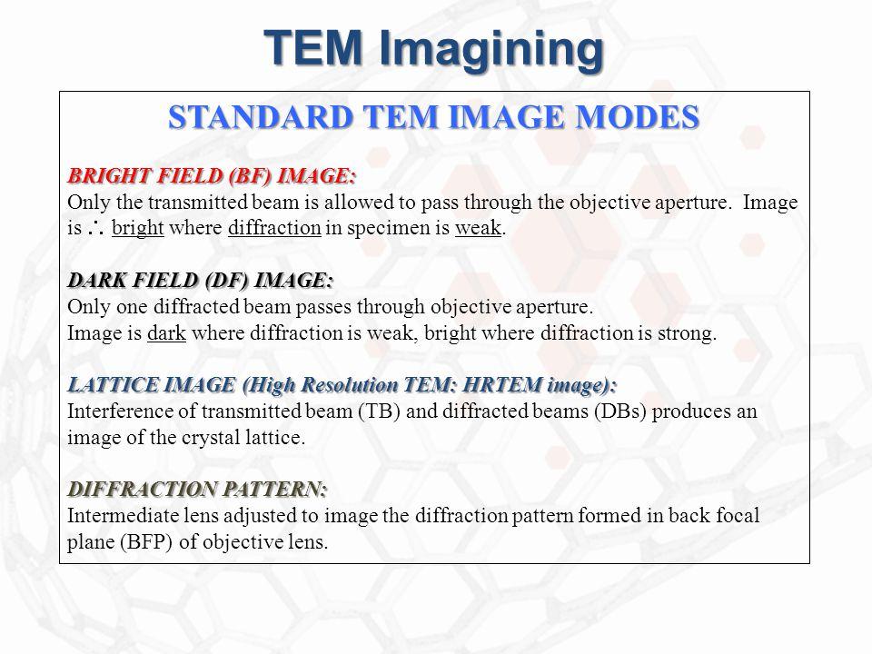 STANDARD TEM IMAGE MODES