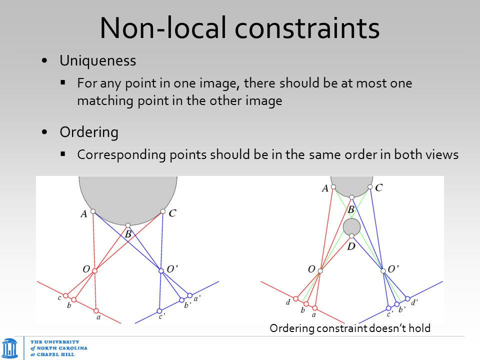 Non-local constraints