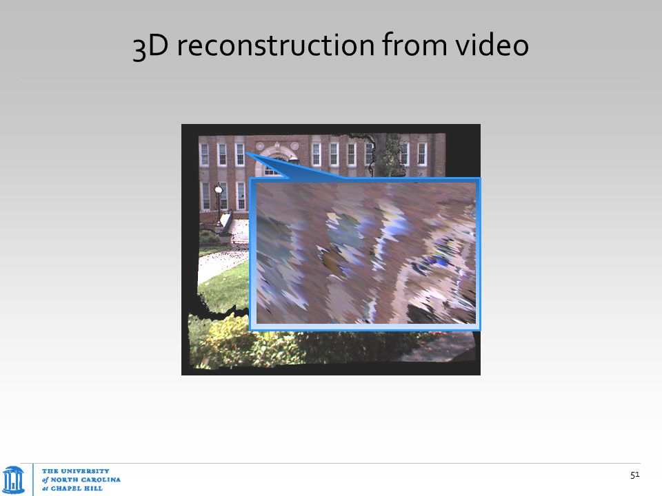 3D reconstruction from video