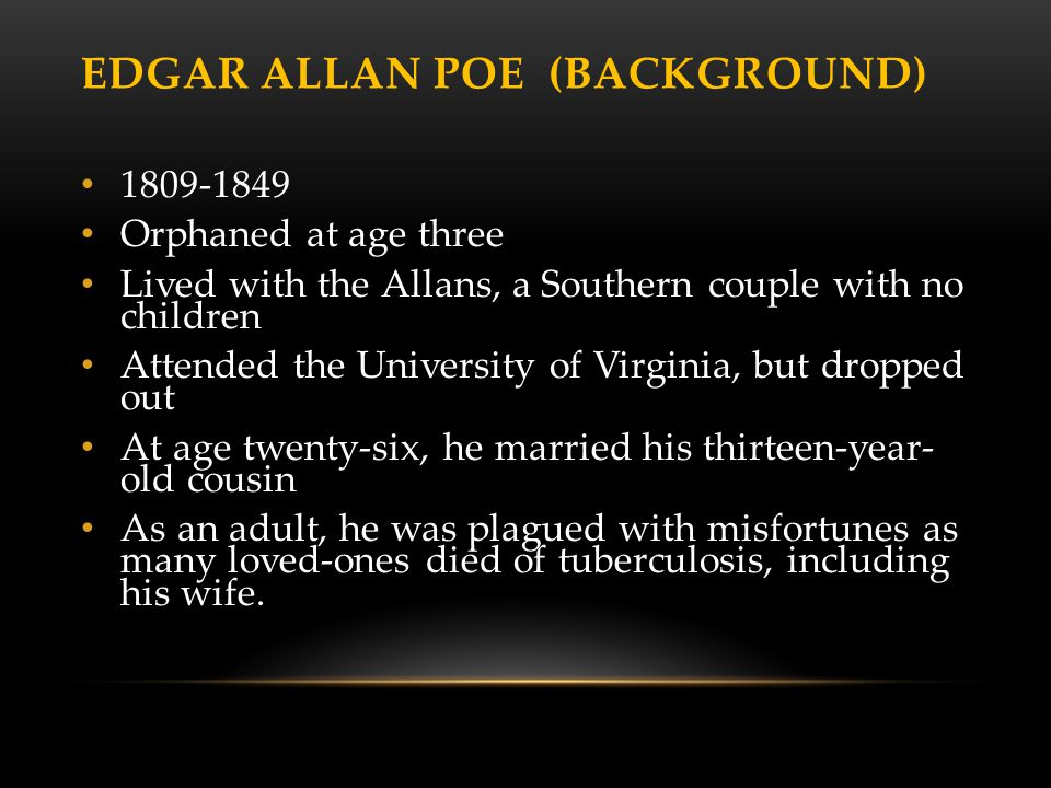 Edgar Allan Poe (background)