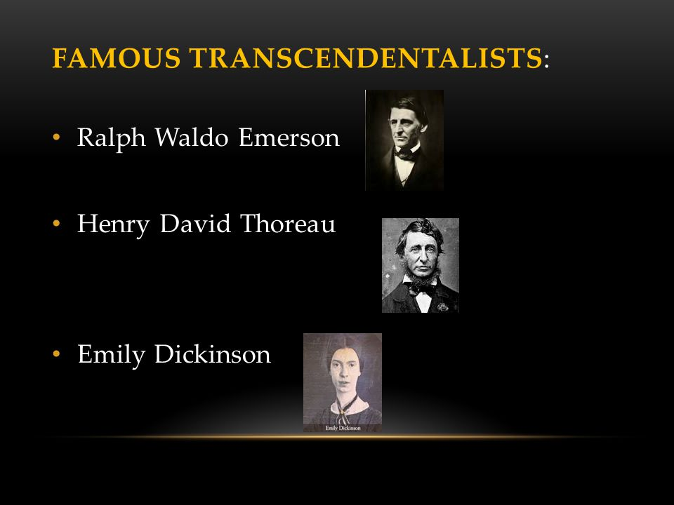 the importance of individualism in the literature of henry david thoreau and emily dickinson Who is the emily dickinson- dickinson sought to escape from individual these events helped pave the way for romantic literature and writers such as dickinson.