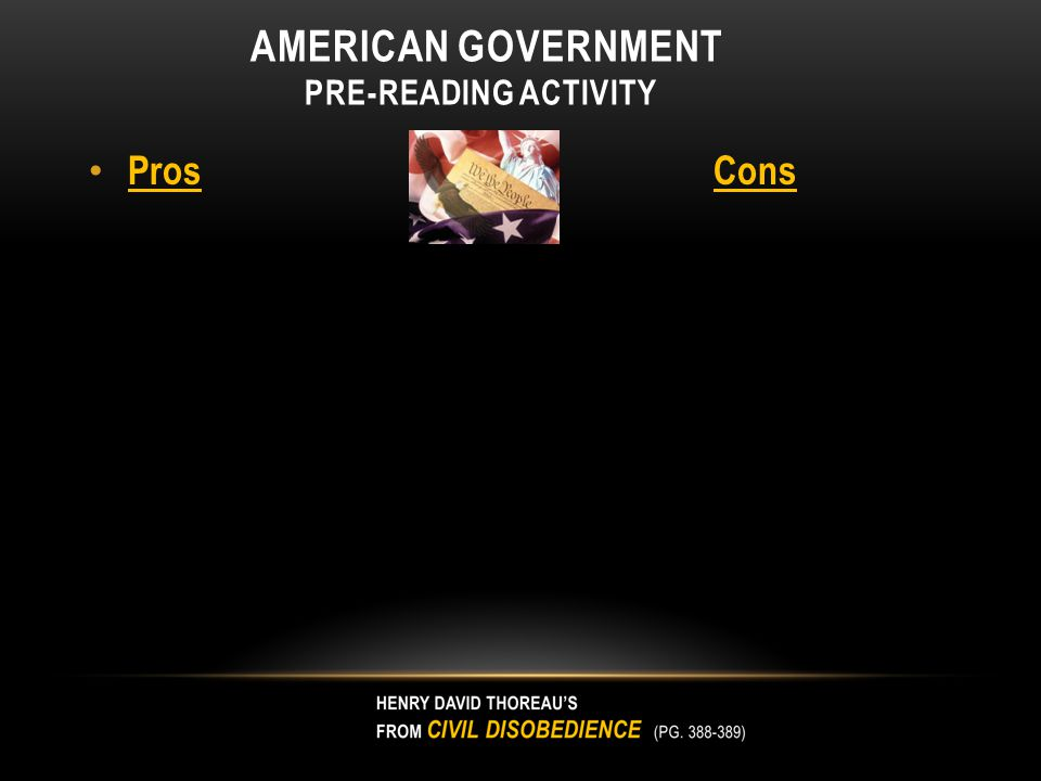 American Government Pre-Reading Activity