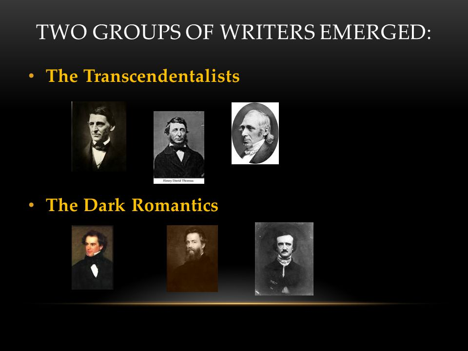 Two Groups of Writers Emerged: