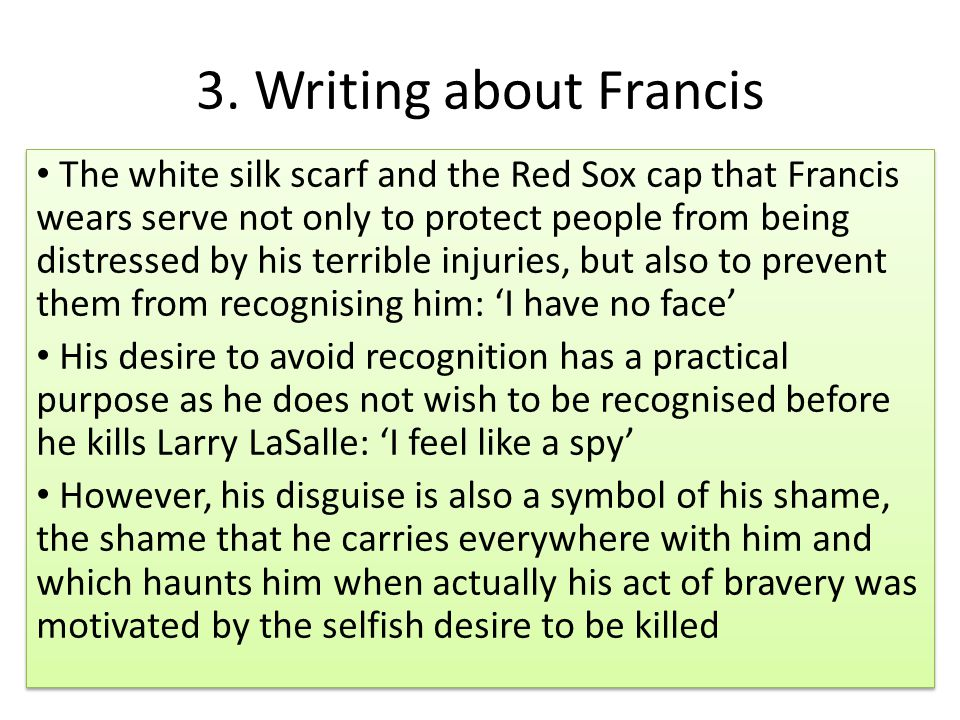 3. Writing about Francis