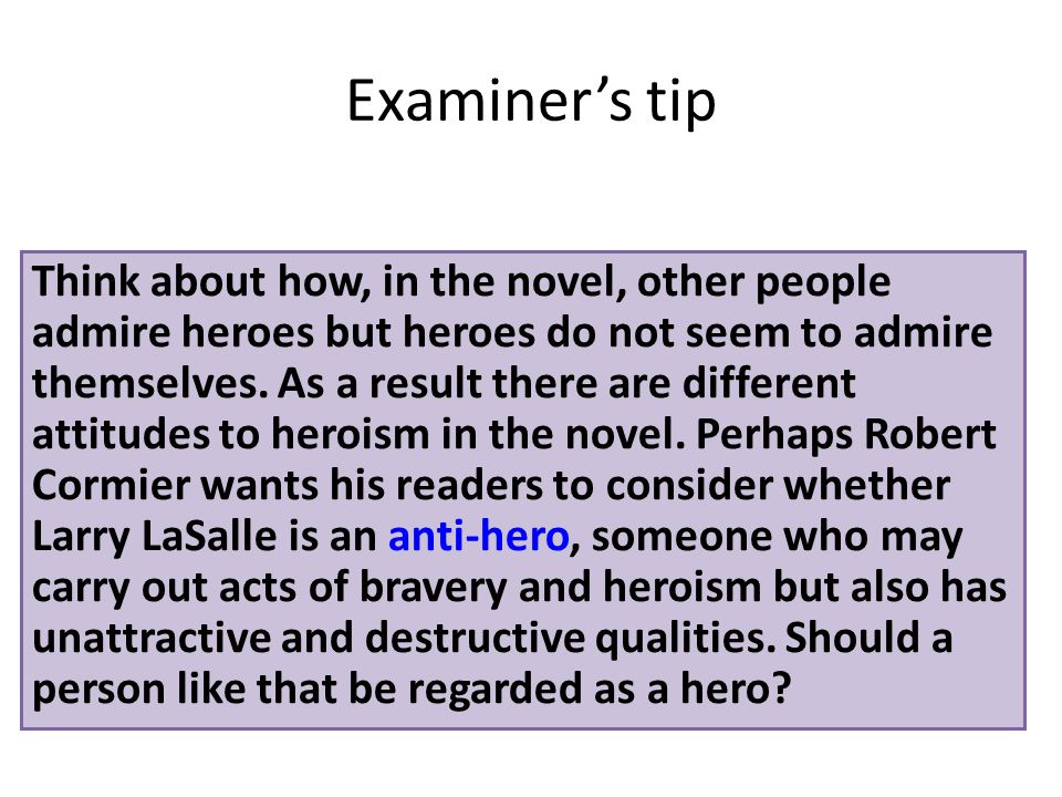 heroes key themes revision ppt video online  8 examiner s